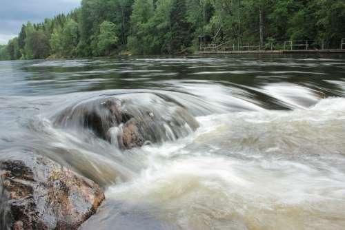Konnekoski River Koski Finland Suomi Water Summer