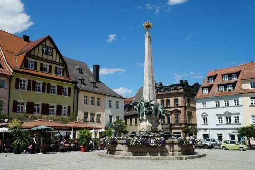 Kulmbach Marketplace Luitpold Fountain