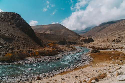 Kyrgyzstan Travel Panorama Rios Beauty Mountains