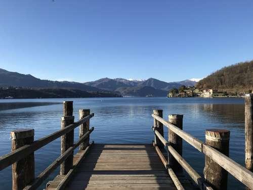 Lake Orta Italy Cusio Landscape Waters Piemonte