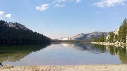 Lake Water Landscape Nature Mountains Mountain