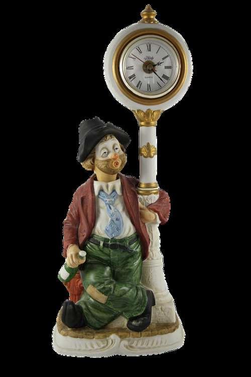 Lamp Clown Image Clock Antique Circus Vintage