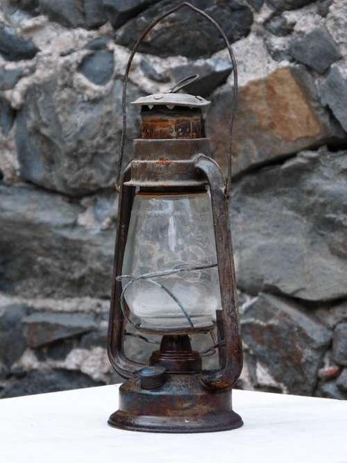 Lantern Quinqué Light Old