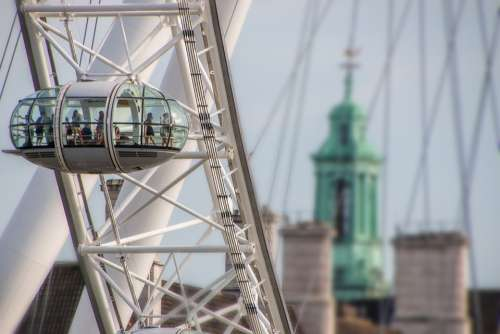 London Britain London Eye Sky Landmark