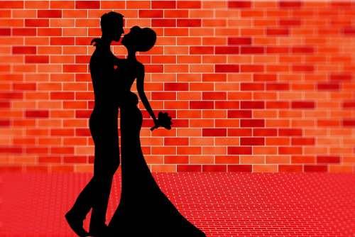 Love Couple Silhouette Romantic Romance Marriage