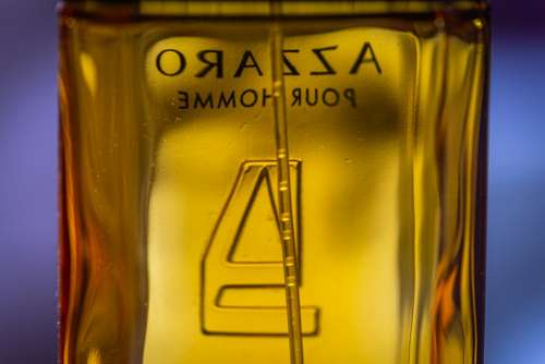Macro Perfume Back Mirrored Fragrance Close Up