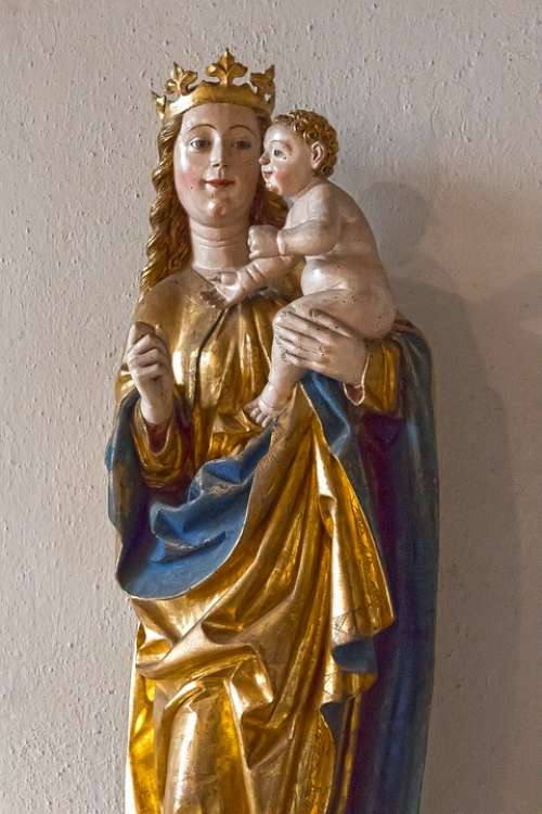 Madonna Mother Maria Child Gothic Middle Ages