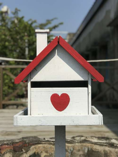Mailbox Love Letter Red White Cabin Tainan