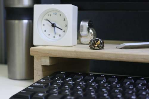 Man Mans Ring Rings Office Clock Male Business
