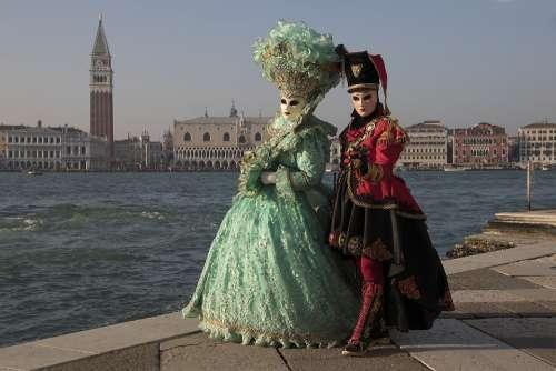 Masks Venice Carnival Italy Human Masquerade