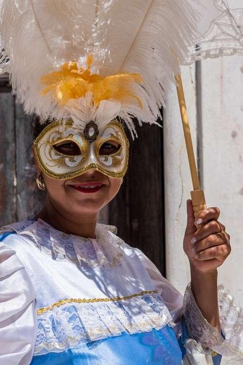 Model Venice Carnival Portrait Woman Person