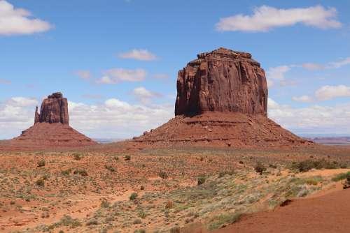 Monument Valley Arizona Desert Landscape Rock Red