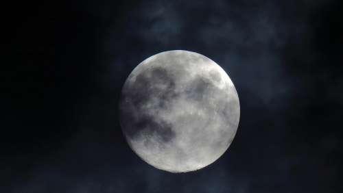 Moon Cloud Anxiety Mysterious Mystic Full Moon