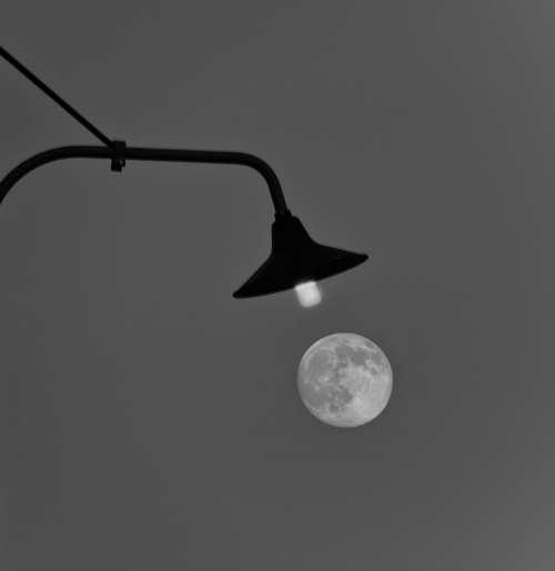 Moon Lamp Light Dark Darkness Lighting Lantern