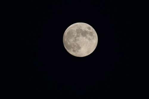 Moon Vollmond Mond Sky Lunar Space Astrology