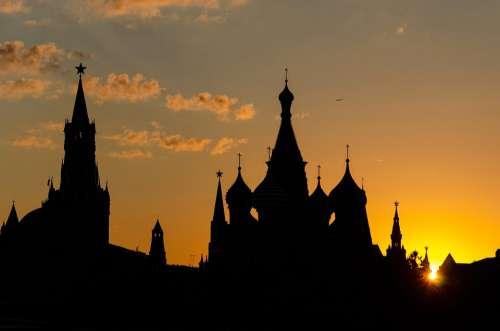 Moscow City Sunset Russia Red Square