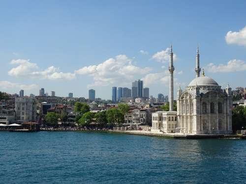 Mosque Minaret Istanbul Architecture City Travel