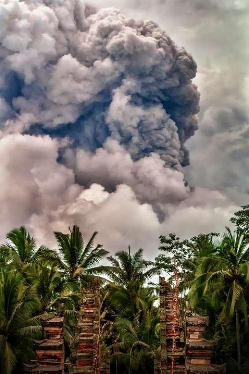 Mount Agungmountain Bali Eruptuion Nature