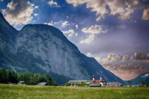 Mountain Germany Bavaria Alps Landscape