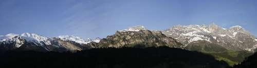 Mountain Panorama Nature Switzerland Landscape