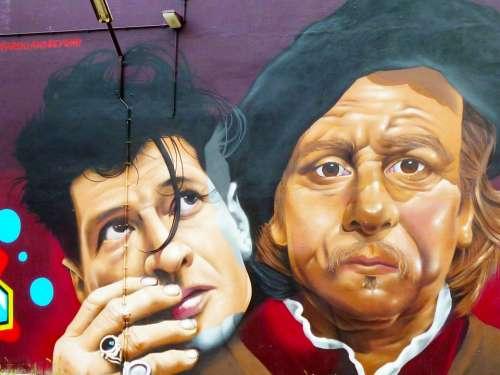 Mural Amsterdam Rembrandt Netherlands Grafitti