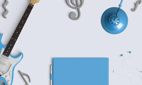 Music Desktop Audio Earphones Guitar Earbuds Blue