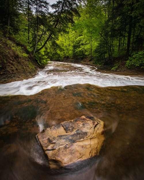 Nature Water Outdoors Stream Creek River Slate