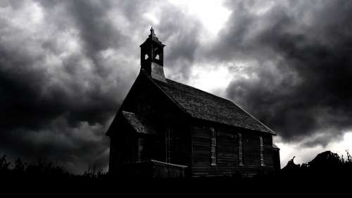 Night Church Wood Cloud Dark Building