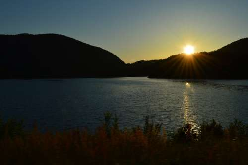 Norway Stavanger Sunset Sea Water Landscape