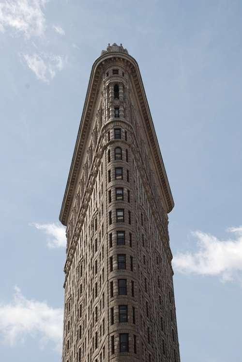 Ny Usa Flatiron City Manhattan America Skyline