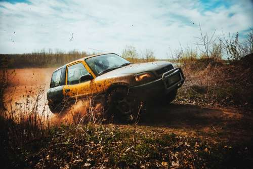 Offroad Auto Field The Vehicle Off-Road Rally