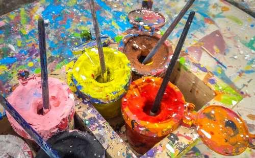 Paint Bucket Creative Brush Painter Color