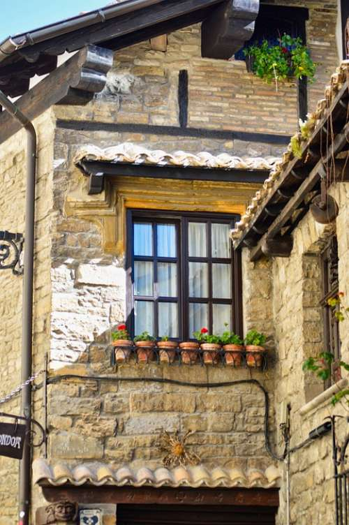 Pamplona Spain Navarre Architecture Old City