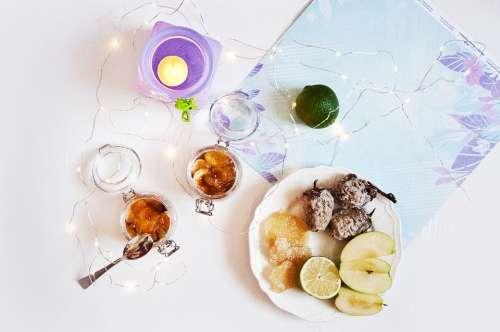 Panna Cotta Fruit Persimmon Lime Breakfast Sveka