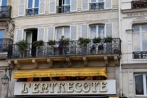 Paris Street View Life The Old Man Leisure