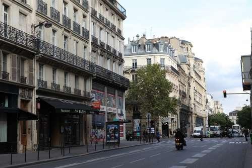 Paris Street View Shop Classical Architecture