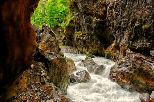 Partnachklamm Bavaria Clammy Water Nature Bach