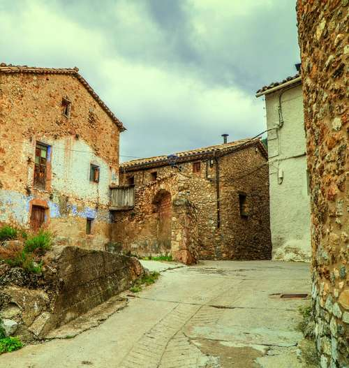 People Rural House Houses Stone Architecture Sky