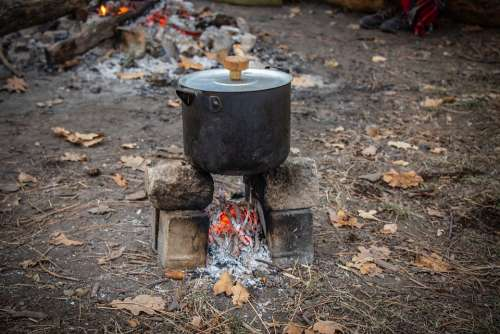 Picnic Coals Food The Pot Vacation Leisure Koster