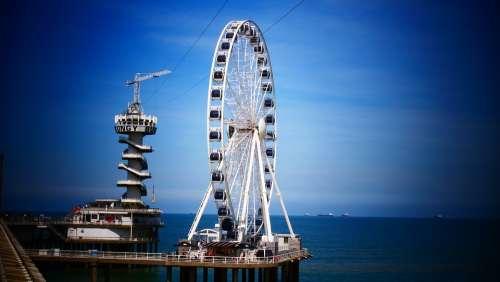 Pier Ferris Wheel Funfair Scheveningen Sea