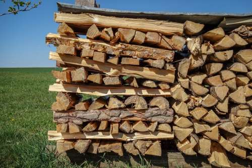 Pile Of Wood Firewood Woods Log Hacked Sawn