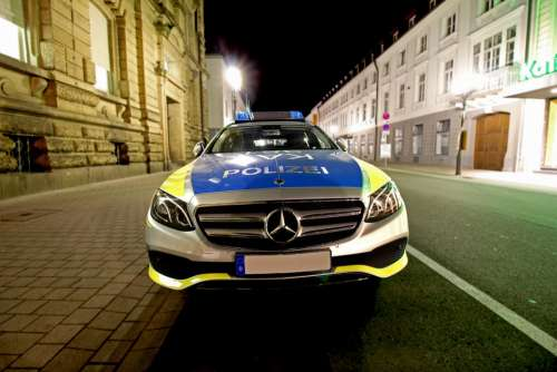Police Policy Traffic Police Car Road City Auto