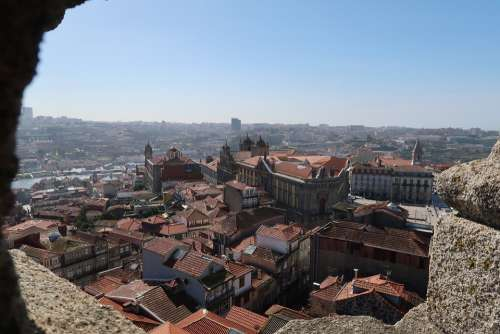 Porto Oporto Portugal Gazebo Douro View Church