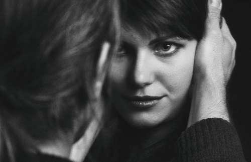 Portrait Girl Studio Female Woman Profile Nose