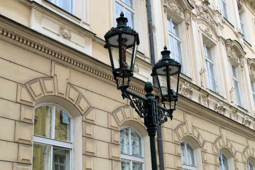 Prague Street Lamp Lamp Historic Center