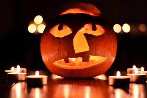 Pumpkin Tealight Halloween Horror Creepy Mystical