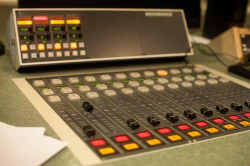 Radio Console Studio Audio Sound Record