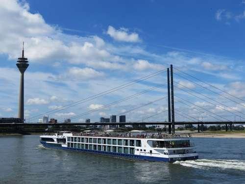 Rhine Germany River Ship