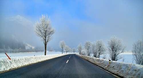 Road Asphalt Landscape Travel Sky Freedom Endless