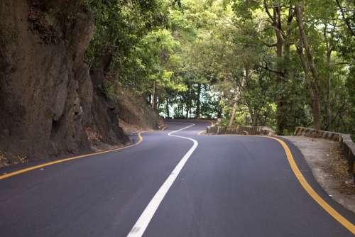 Road Curves Highway Asphalt Route Way Nature